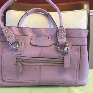 Lavender Coach handbag